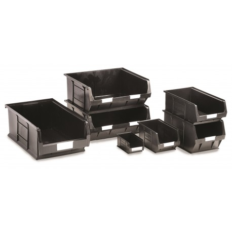 Barton Recycled Black Semi-Open Front Containers