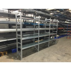 Galvanised Shelving System - 3 Bay Run - All Steel Longspan Racking