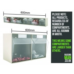 9 Compartment Clear Box Unit