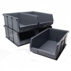 Grey Plastic Parts Bins