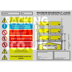 Pallet Racking Load Notice - PDF Download TEST