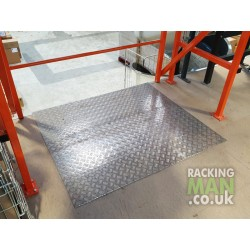 Pallet Gate Aluminium Wear Protector (shown installed with edge protector)