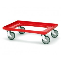 Plastic Dolly with Rubber Castors - suits Plastic Boxes
