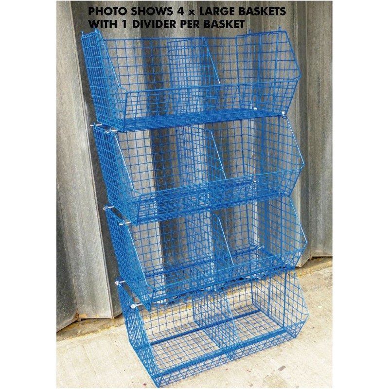 20 x Large Wire Baskets & 20 Dividers - RackingMan.co.uk