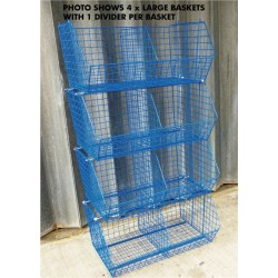 40 x Large Wire Baskets & 40 Dividers