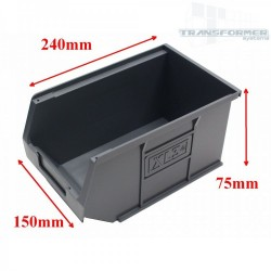 Size 3 Grey Plastic Parts Bins