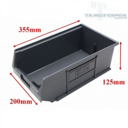 Size 4 Grey Plastic Parts Bins