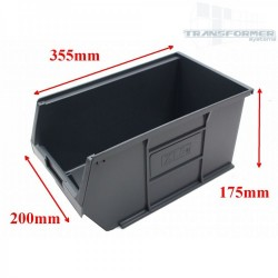 Size 5 Grey Plastic Parts Bins