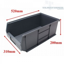 Size 7 Grey Plastic Parts Bins (Pack 5)
