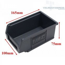 Size 2 Grey Plastic Parts Bins (Pack 20)