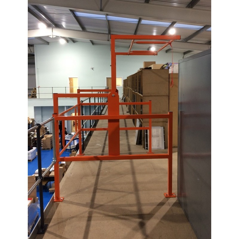 Mezzanine Pallet Gate : Mezzanine floor pallet safety gate