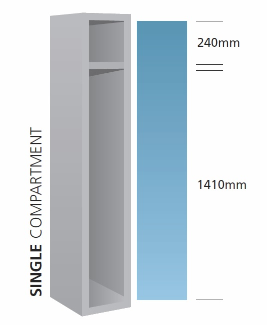 Locker dimensions - standard 1 door